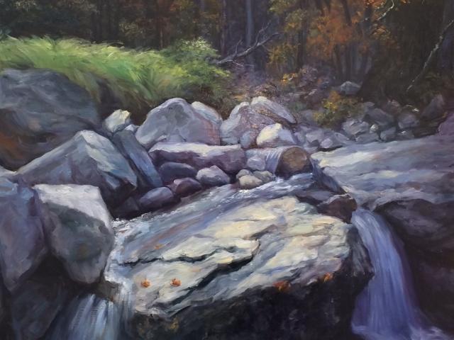 Schary, Oil on Canvas, Silver Twilight