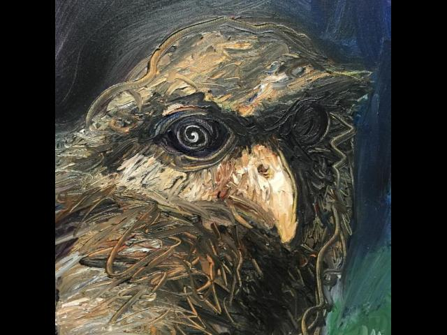 Connelly, Owl, Oil on Canvas