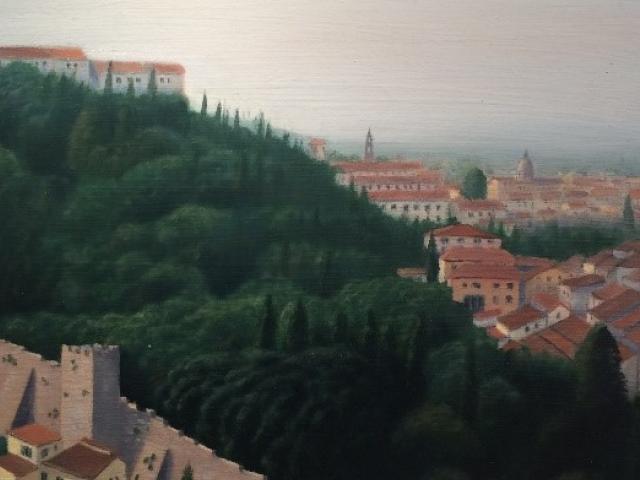 Ciliberti, Oil, View of Rome #1
