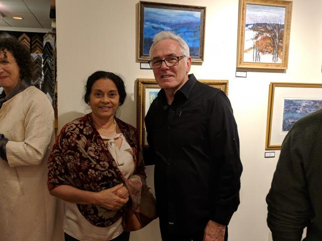 Artist Smita Rao and Joseph Borrelli