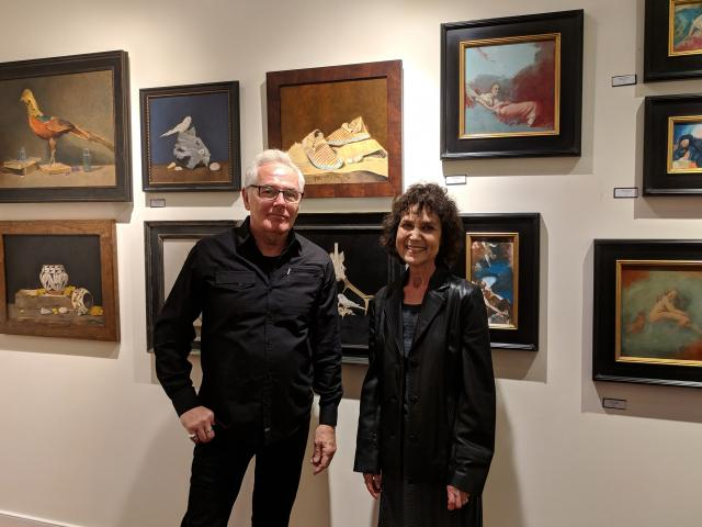 Artist Beatrice Golden and Joseph Borrelli