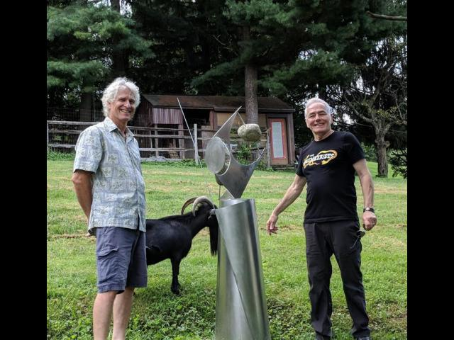 Luc-Alain Fiedler and Gallery Owner, Joe Borrelli at Luc's Foundry