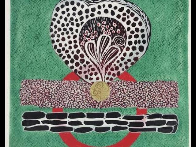 The Red Circle, Mixed Media, Doris Nogueira-Rogers