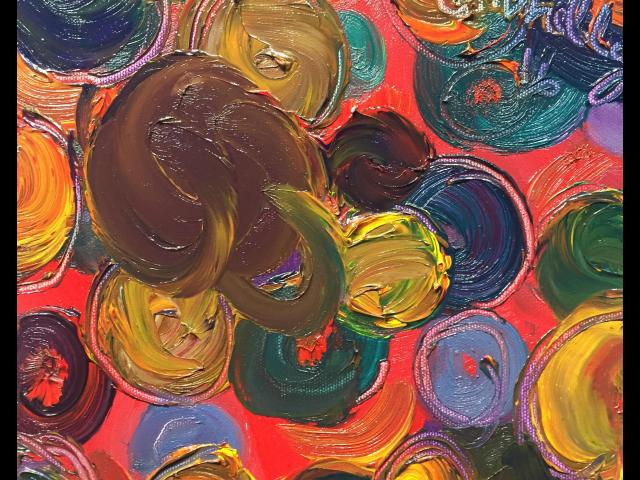 Connelly, Circles 1, Oil on Canvas