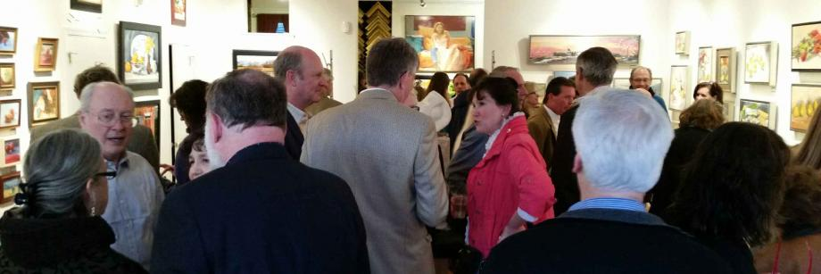 Full House at the Artists' Reception